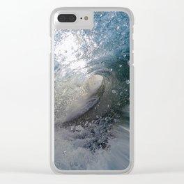 Ocean Vortex Clear iPhone Case