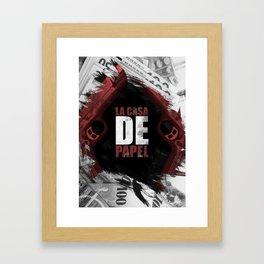 La Casa de Papel / the House of Paper Framed Art Print