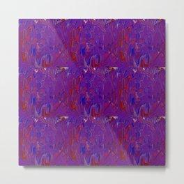 purple smears (the machine dreams a self-portrait) Metal Print