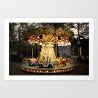 merry-go-round (with vignette) Art Print