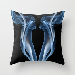9061 Smoke and Mirrors Reveal Feminine Flow of Energy in Free Space, Throw Pillow