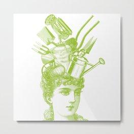 domestic goddess - garden Metal Print