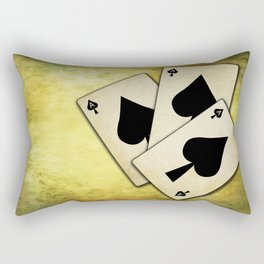 Ace of spades on textured background Rectangular Pillow