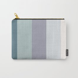 Colors of the ocean in Winter Carry-All Pouch