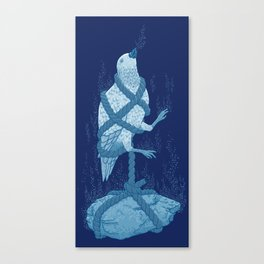 In love with a sinking stone Canvas Print