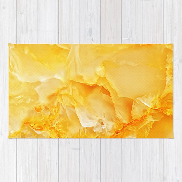 Yellow Onyx Marble Rug By Patternmaker Society6