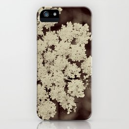 Lace Black and White Flower iPhone Case