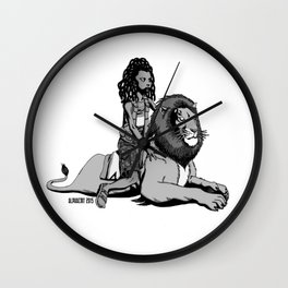 The Lion and the Boy Wall Clock