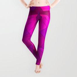 ABSTRACT LINES #1 (Purples, Violets, Fuchsias & Magentas) Leggings