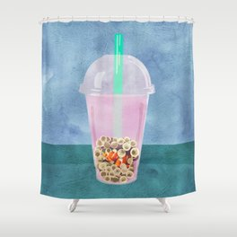 Clownfish Tea by Kenzie McFeely Shower Curtain
