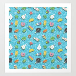 Pool floaties Art Print
