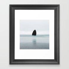 Strange Ocean Rock Framed Art Print