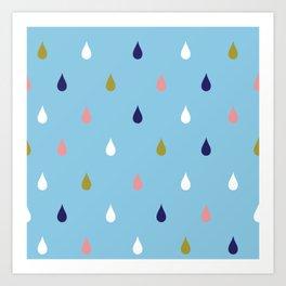 Happy rain drops Art Print