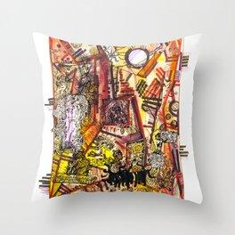 Creation through time Throw Pillow