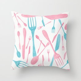 #71. FIONA (Forks & Knives) Throw Pillow