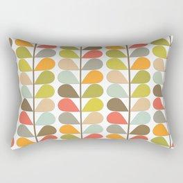Retro Mid Century Modern Pattern 3 Rectangular Pillow