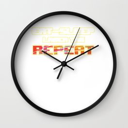 Tag Game Laser Guns Fire Shooting Infrared Beam Eat Sleep Laser Tag Repeat Gift Wall Clock