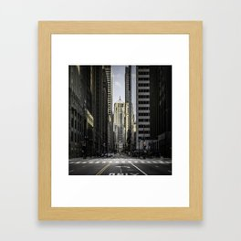 The Financial District of Chicago Framed Art Print