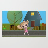 chibi Area & Throw Rugs featuring Chibi Girl by ChibiGirl