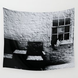 cat in a window Wall Tapestry