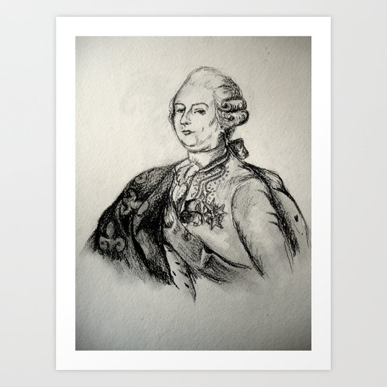 French Sketch III Art Print