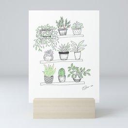 Plant Shelf Mini Art Print