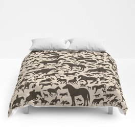 Horse a background Comforters