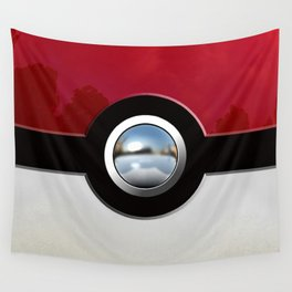 Red Chrome Monster ball Wall Tapestry