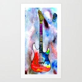 Guitar Art Print