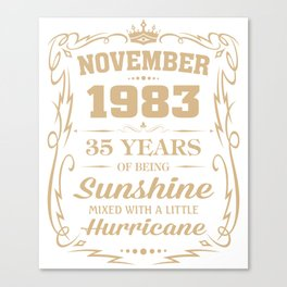 November 1983 Sunshine mixed Hurricane Canvas Print
