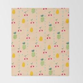 Fruity Spring Throw Blanket