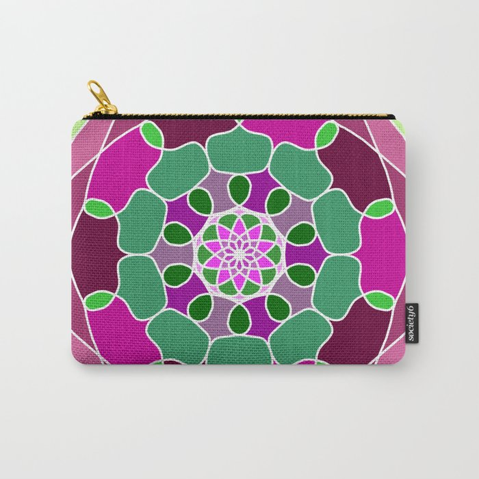 Mandala in many colors Carry-All Pouch