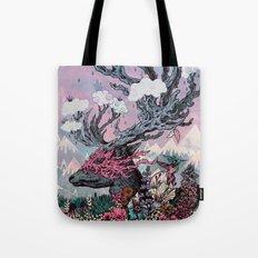 Journeying Spirit (deer) sunset Tote Bag