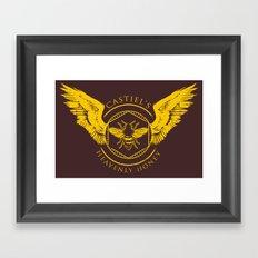 Castiel's Heavenly Honey Framed Art Print