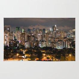 Sao Paulo Night Skyline Rug