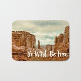 Be Wild Be Free - Utah Bath Mat