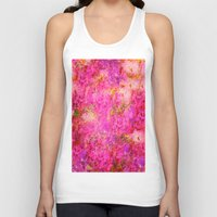 shabby chic Tank Tops featuring Pink and Red Vintages Roses So Shabby Chic by Saundra Myles
