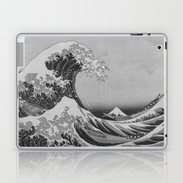 Black & White Japanese Great Wave off Kanagawa by Hokusai Laptop & iPad Skin