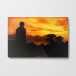 Watching the sunset Metal Print