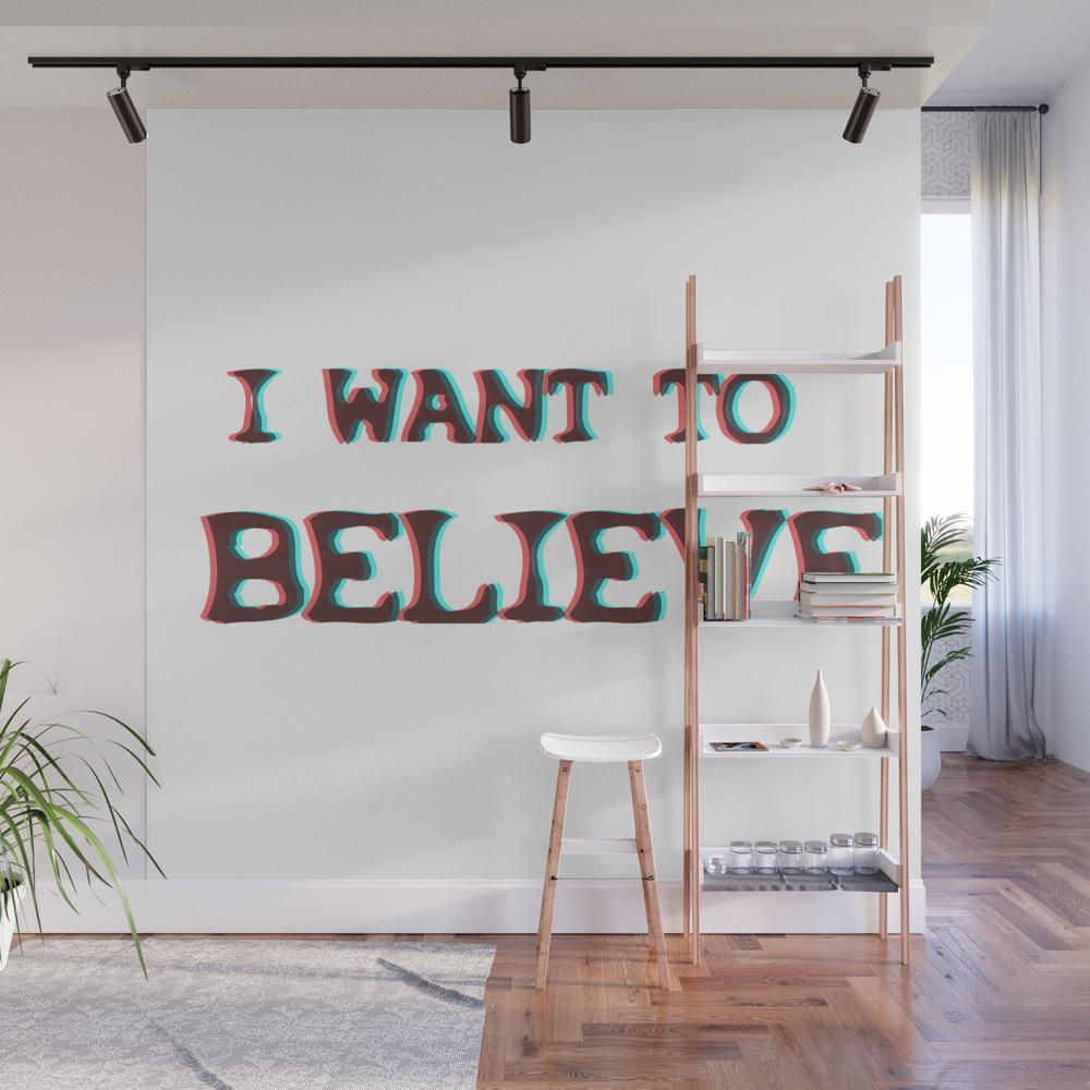 I Want To Believe - Xfiles Wall Mural by Amyjacksonart WMP8072421