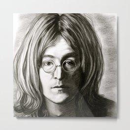 John in Black and White Metal Print