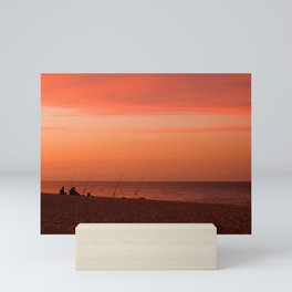 Evening Fishermen Mini Art Print