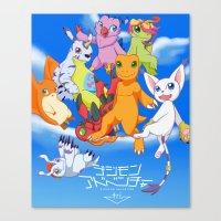 digimon Canvas Prints featuring Digimon Tri by Kazenishi