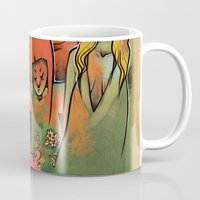 faces Mugs featuring FACES by tidlin