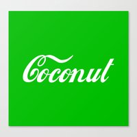 coconut wishes Canvas Prints featuring Coconut by Tshirtbaba