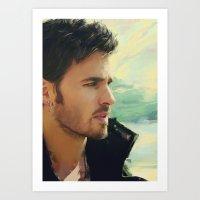 captain hook Art Prints featuring Captain Hook by Alba Palacio