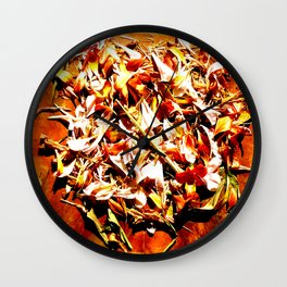 Flowers on a table 2 Wall Clock