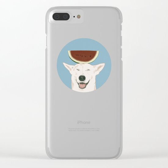 Watermelon doggy smile Clear iPhone Case