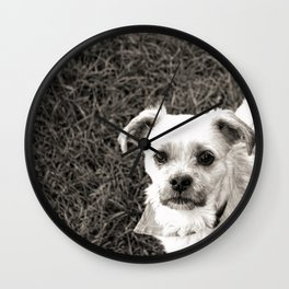 Fudge black and white Wall Clock