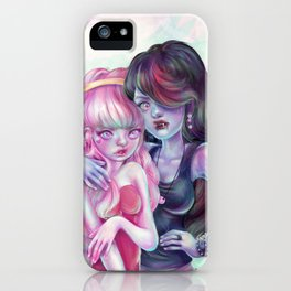 I'm gonna drink the red from your pretty pink face. iPhone Case